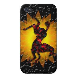 野生の馬#21のルビーおよび灰 iPhone 4/4Sケース