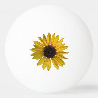 野生の黄色いヒマワリ 卓球ボール