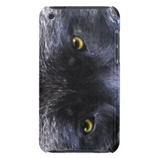 野生の黒いオオカミは野性生物のIPodの箱を注目します Case-Mate iPod Touch ケース