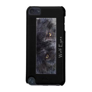 野生の黒いオオカミは野性生物のIPodの箱を注目します iPod Touch 5G ケース