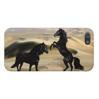 野生の黒い美しいの馬 iPhone 5 カバー