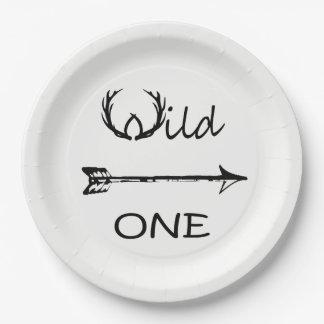 野生の1枚のテーマの紙皿 ペーパープレート