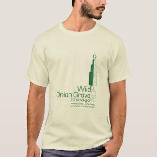 野生タマネギ果樹園ADFのティー-ライト Tシャツ