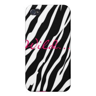 野生ピンクのシマウマ iPhone 4/4Sケース