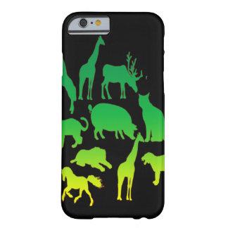 野生動物のコラージュのカッコいいのりんごiphone6のデザインの場合 barely there iPhone 6 ケース
