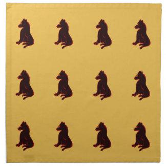 野生動物の布のナプキンテーブルウェア抽象美術2 ナプキンクロス