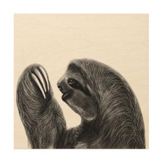 野生動物の雨林の南アフリカの怠惰のスケッチ ウッドウォールアート