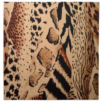 野生動物パターン ナプキンクロス