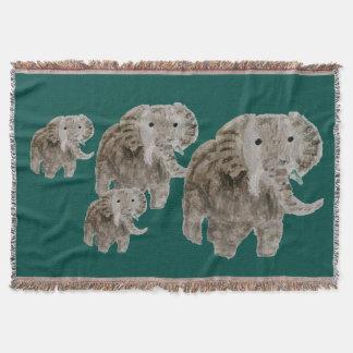 野生動物象の芸術 毛布