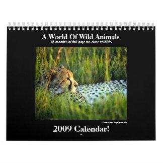 野生動物2009のカレンダー! カレンダー