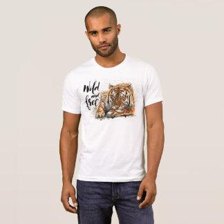 野生及び自由なトラ Tシャツ