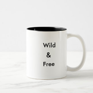 野生及び自由なマグ ツートーンマグカップ