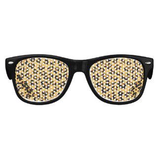 野生猫のヒョウのプリントの模造のな毛皮パターン パーティサングラス