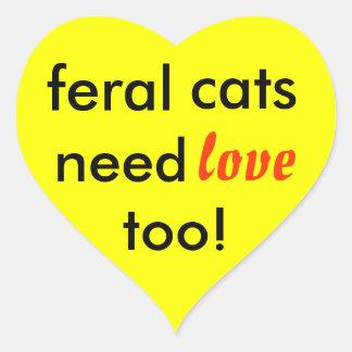 野生猫は愛を必要としますも! ハートシール