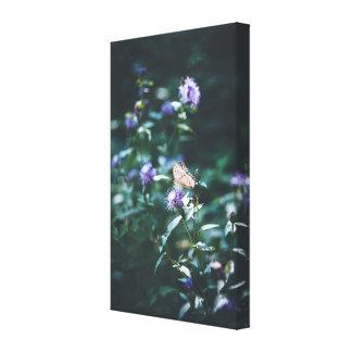 野生花の蝶 キャンバスプリント