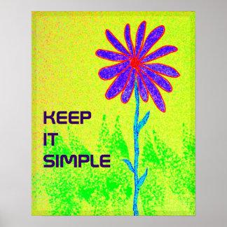 野生花はそれをシンプルなポスター保ちます ポスター