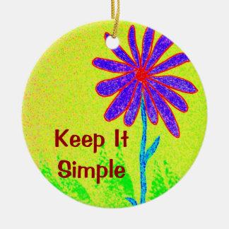 野生花はそれをシンプル保ちます セラミックオーナメント