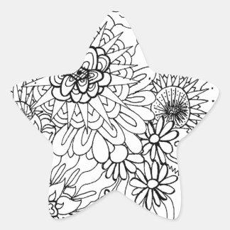 野生花 星シール