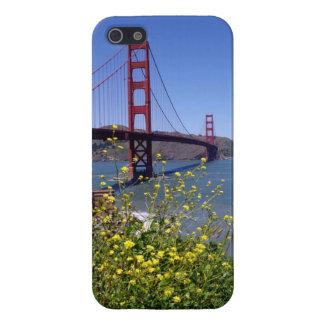 野生花Iの電話箱が付いているゴールデンゲートブリッジ iPhone 5 ケース