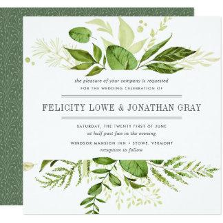 野生草原の結婚式招待状|の正方形 13.3 スクエアインビテーションカード