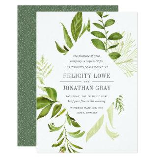 野生草原の結婚式招待状 12.7 X 17.8 インビテーションカード