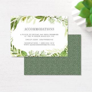 野生草原|の結婚の宿泊施設カード チャビ―名刺