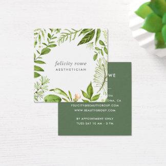 野生草原|植物のフレーム スクエア名刺