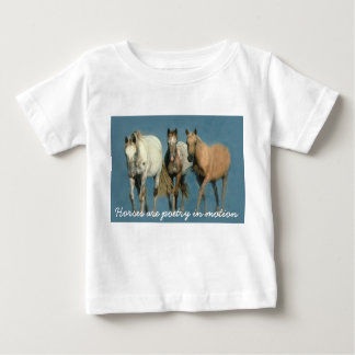 野生馬およびすばらしくユニセックスな幼児のワイシャツ ベビーTシャツ
