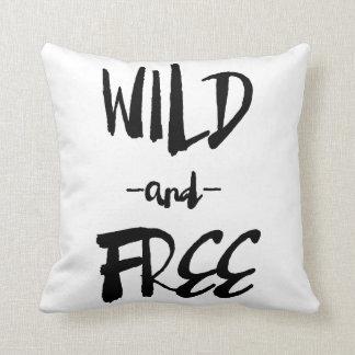 野生|のブラシのモダンな書道の枕を放せば クッション