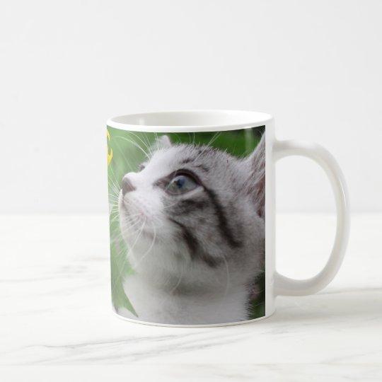 野良猫ニャン吉【ひまわり】 コーヒーマグカップ