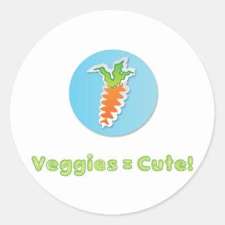 野菜あかわいい ラウンドシール