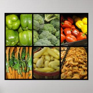 野菜およびエビの新しいメドレー ポスター