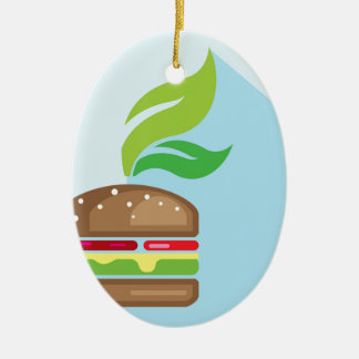 野菜のハンバーガーのベクトル芸術 セラミックオーナメント
