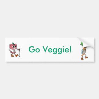 野菜のバンパーステッカーは行きます バンパーステッカー