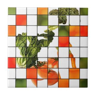 野菜のモザイク タイル