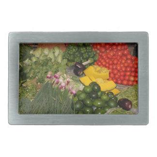 野菜の新しい熟した庭の混合された収穫の市場 長方形ベルトバックル