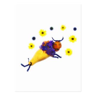 野菜の花のバッファロー ポストカード