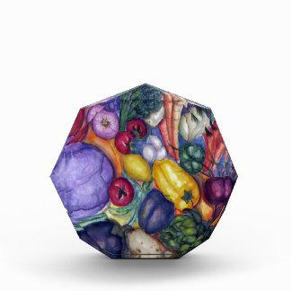 野菜の野菜水彩画の芸術 表彰盾