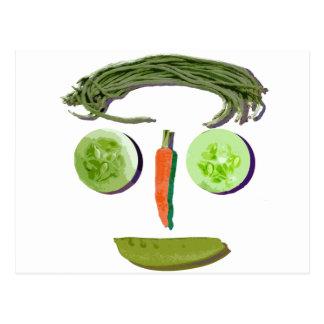 野菜の顔 はがき