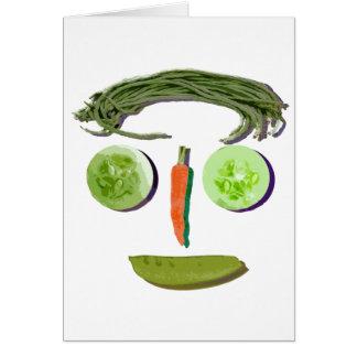 野菜の顔 カード