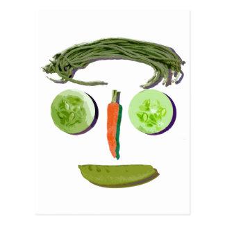 野菜の顔 ポストカード