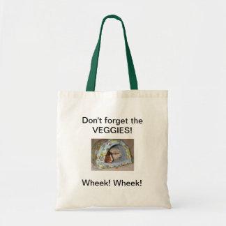 野菜の食料雑貨のトートを忘れないで下さい トートバッグ