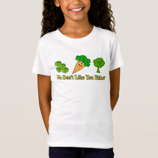 野菜はあなたについての同じ方法を感じます Tシャツ