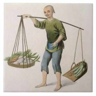 野菜を持つ男の子は、「コスチュームからの54をめっきします タイル