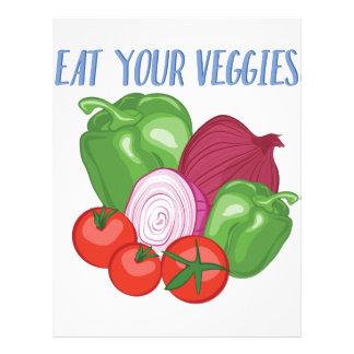 野菜を食べて下さい レターヘッド