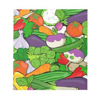 野菜パターン ノートパッド