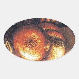 野菜ボール 楕円形シール