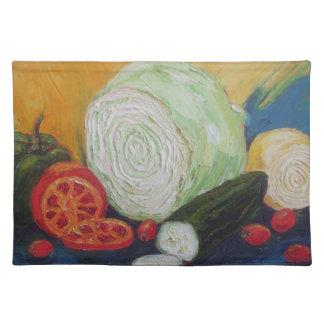 野菜メドレーのランチョンマット ランチョンマット
