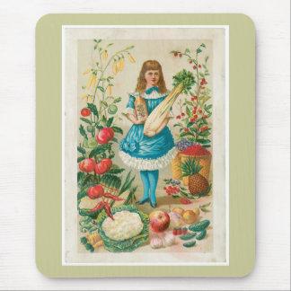 野菜ヴィンテージの食糧広告の芸術 マウスパッド