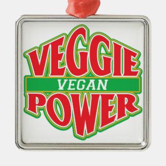野菜力のビーガン メタルオーナメント